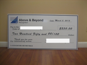 oversized check,large checks,big checks,fundraiser checks,PR checks